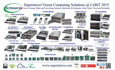 Supermicro(R) Green Computing Solutions Transforming Digital Business @ CeBIT 2015.