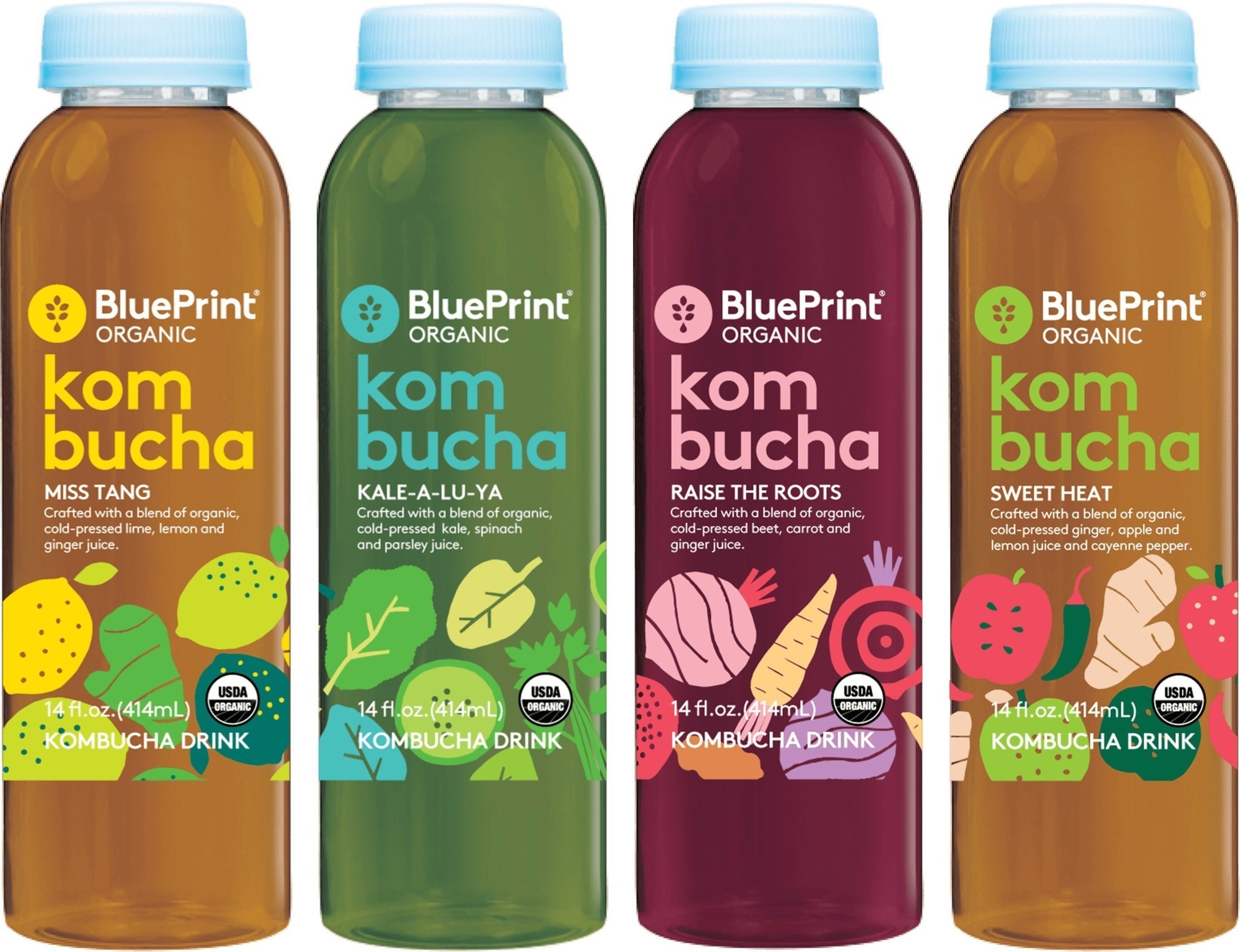 BluePrint(R) Organic Kombucha Drinks