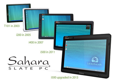 Sahara Slate PC family of Tablets from TabletKiosk since 2003. (PRNewsFoto/TabletKiosk)