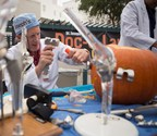 Dr. Andrew Hodge did the first-ever joint replacement on a pumpkin. Ouch!