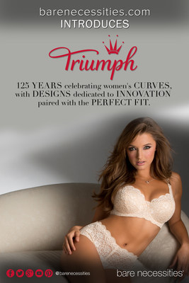 BareNecessities.com Partners with Triumph. Over 125 years of designing bras that celebrate women's curves. (PRNewsFoto/Bare Necessities)