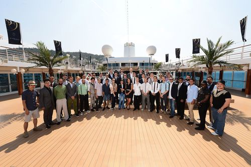 2013 DIAGEO RESERVE WORLD CLASS Global Finalists pose during the photo call on day 1 of the DIAGEO RESERVE ...