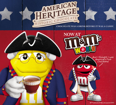 Times Square just got sweeter with the addition of American Heritage(TM) Chocolate at M&M'S World(R) (PRNewsFoto/Mars Chocolate North America)
