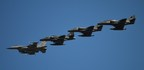 """Draken A4's Flying Alongside Air National Guard Aircraft - Photo by Charles """"Chief"""" Smith"""