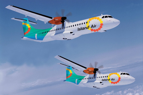 Island Air Launches New Brand And Rolls Out New Fleet Of Efficient Jet Prop Aircraft.  (PRNewsFoto/Island Air)