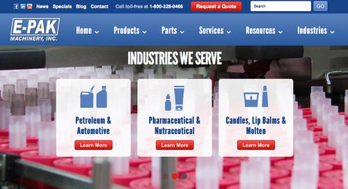 Bottling equipment company, E-PAK Machinery launches new website.  (PRNewsFoto/E-PAK Machinery, Inc.)