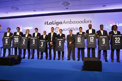 LaLiga introduced the ten players who shall serve as Liga BBVA ambassadors (PRNewsFoto/LaLiga) ...