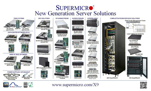 Supermicro(R) Launches X9 New Generation Server Solutions - www.supermicro.com/X9.  (PRNewsFoto/Super Micro ...