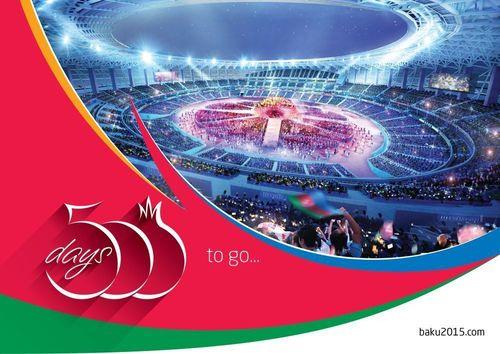 Baku 2015 celebrates 500 days to the Opening Ceremony of the first European Games (PRNewsFoto/Baku 2015)