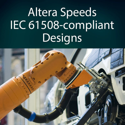 Altera Corporation addresses safety mandates in industrial and manufacturing settings with its new Functional Safety Data Package 3. The solution, aimed at systems designers using Altera field programmable gate arrays, provides T?V Rhineland-certified tool flows, IP and devices including Cyclone V FPGAs, enabling faster time for market for industrial safety solutions to IEC 61508 up to Safety Integrity Level 3 (SIL3).