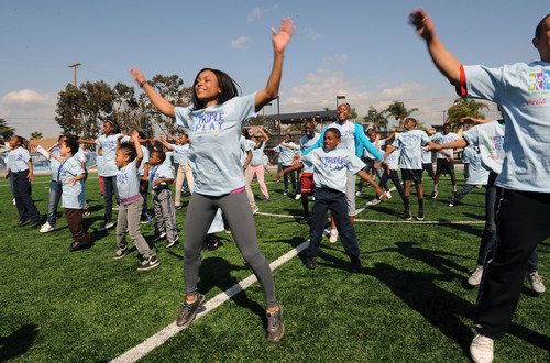 Kids at Challengers Boys & Girls Club in Los Angeles Take on the Guinness World Record for Jumping