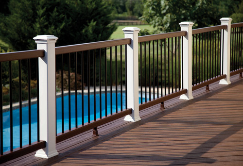 Trex Company is expanding the high-performance Trex(R) Transcend(R) collection with a contemporary railing option & Trex Transcend Beveled Railing.  Featuring a new handrail and bottom rail shape, it is specifically designed to address regional architectural and style preferences.  (PRNewsFoto/Trex Company)