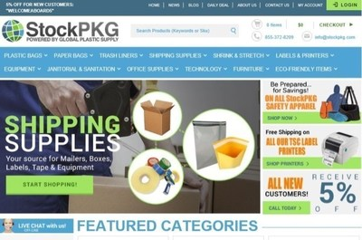 StockPKG, powered by Global Plastic Supply, is a one-stop-shop for all business supply and flexible packaging needs serving businesses and customers all over America. As the next easy-to-use Amazon of business products, StockPKG distributes any and all things discount business supply - from packaging and shipping materials, to office furniture and safety supplies. StockPKG is not only a robust and user-friendly online marketplace for business products; the company also serves as consultants for all types...