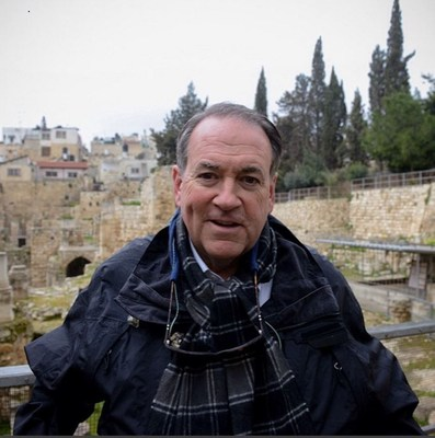 Mike Huckabee visiting the Old City of Jerusalem