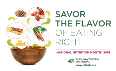 "How, when, why and where we eat are just as important as what we eat. Making sure to enjoy the sights, sounds, memories and interactions associated with eating are essential to developing an overall healthy eating plan. That is why, as part of National Nutrition Month 2016, the Academy of Nutrition and Dietetics urges everyone to ""Savor the Flavor of Eating Right."" Learn more at www.eatright.org and follow #NationalNutritionMonth."