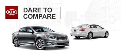 The Kia Optima goes up against the Nissan Altima in this challenge. (PRNewsFoto/Palmen Kia)