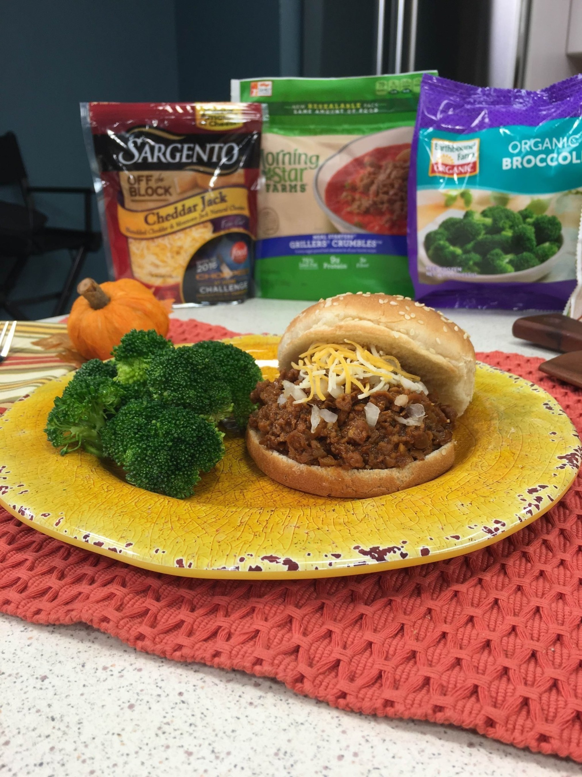 Your family will love these tasty, healthy Vegetarian Sloppy Joes, made with delicious ingredients from the frozen and refrigerated aisles of your local grocery store.