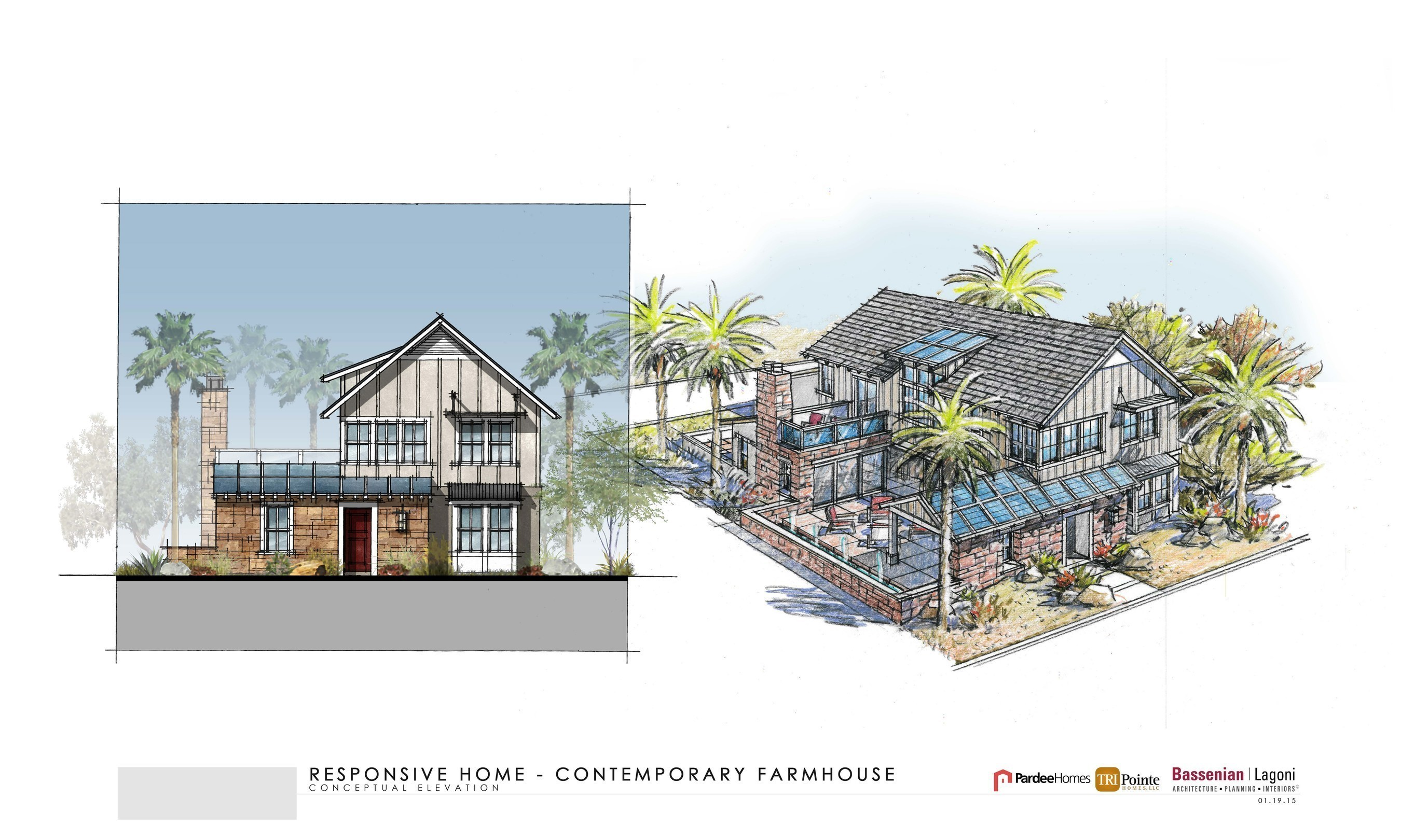 Responsive Home - Contemporary Farmhouse Rendering