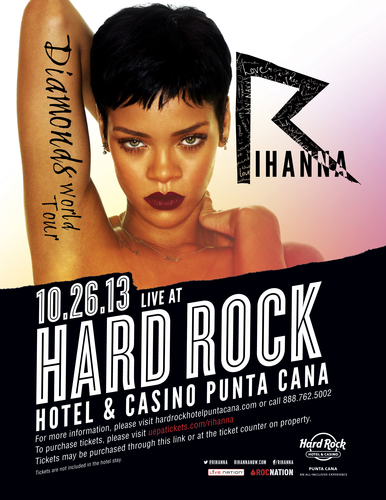 Iconic superstar, Rihanna, brings her Diamonds World Tour to Hard Rock Hotel & Casino Punta Cana.  (PRNewsFoto/All Inclusive Collection)