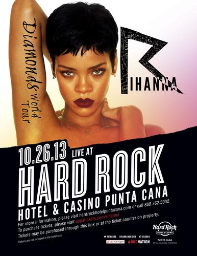 Iconic superstar, Rihanna, brings her Diamonds World Tour to Hard Rock Hotel & Casino Punta Cana. ...