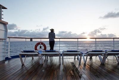 One tip from cruise experts is to plan on rising early on at least one day to enjoy the spectacular views and peacefulness of sunrise on the ship's top deck.Photo courtesy of Princess Cruises