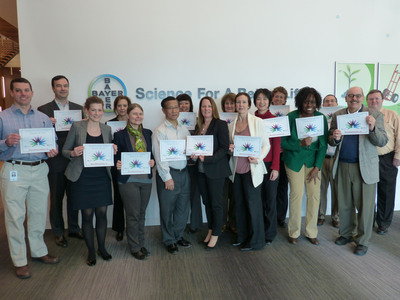 Bayer employees participate in Rare Disease Day.  (PRNewsFoto/Bayer HealthCare)