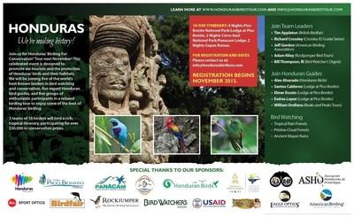 To reserve your spot, please visit www.hondurasbirdtour.com