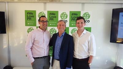 Ogilvy PR's Michael DiSalvo, CEO Stuart Smith, and Ben King