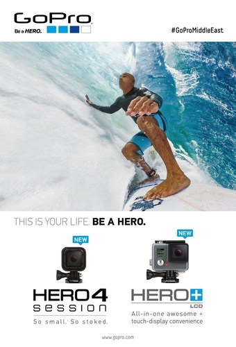 Al Boom Marine Announce the Arrival of GoPro HERO4 Session and HERO+LCD in the Middle East (PRNewsFoto/Al Boom ...