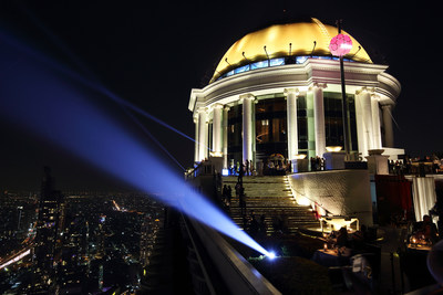 Over 872 feet above ground, tonight the Bangkok Ball Drop at lebua put Thailand's capital on the world map of New Year's Eve celebrations with the World's Highest Ball Drop.