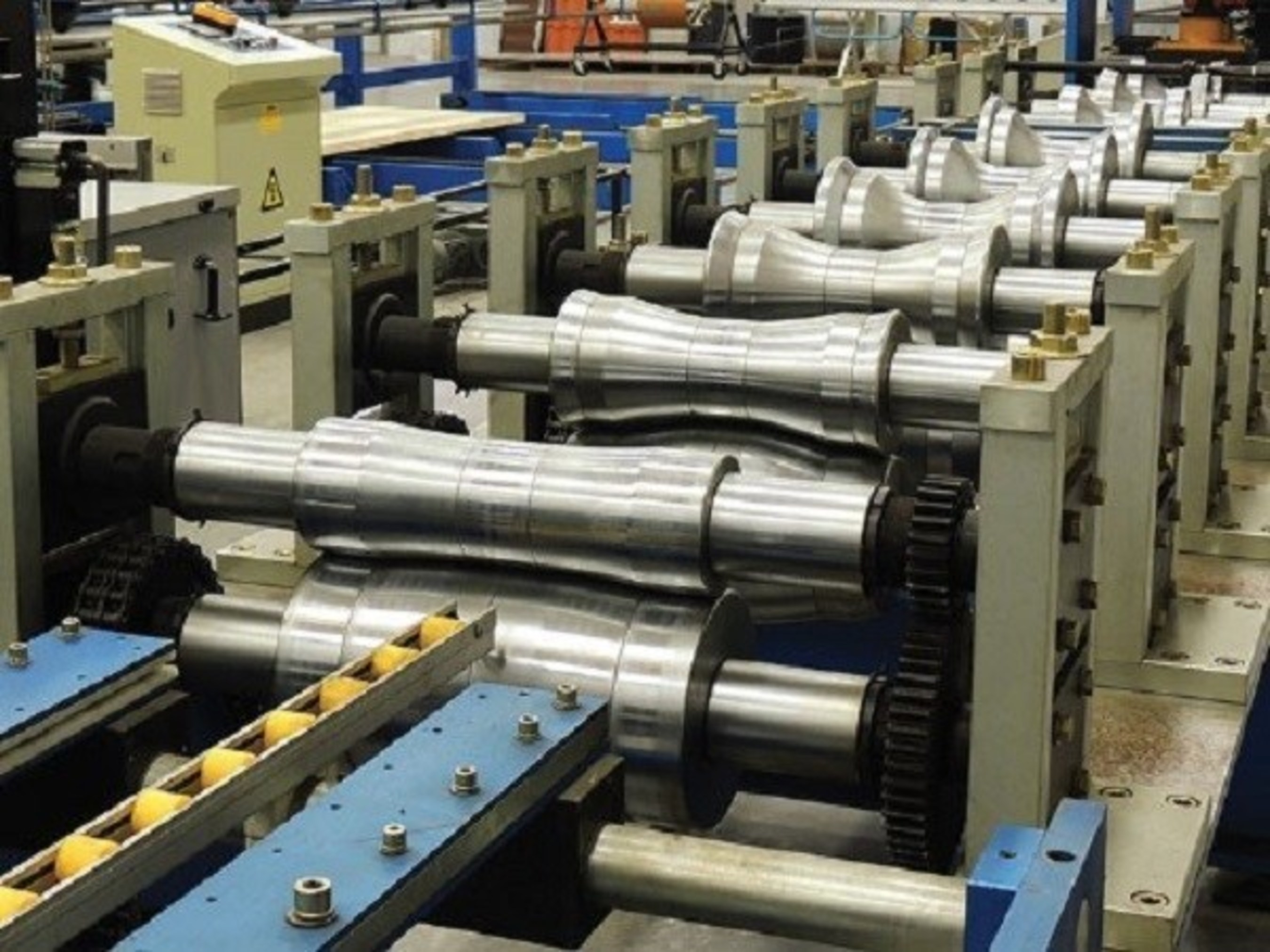Roll Forming Line Typical of Those Used by GameChange Solar For Highly Automated Quality Steel Part Production