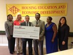 A $6,000 Partnership Grant Program (PGP) award was presented October 2 to Housing Education and Economic Development (HEED) from Trustmark National Bank and the Federal Home Loan Bank of Dallas (FHLB Dallas). The award will be used to enhance HEED's counseling programs that educate the public on foreclosure, fair housing, and fair lending issues. Through the Partnership Grant Program, FHLB Dallas matches a member's cash contribution to a community-based organization of $500 up to $5,000 at a 3:1 ratio. In 2014, FHLB Dallas awarded $225,000 in partnership grants through its members. (PRNewsFoto/Federal Home Loan Bank of Dallas)