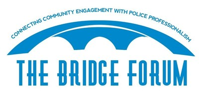 The Bridge Forum logo, recently updated, http://www.thebridgeforum.com/.  The Bridge Forum is working to set common ground between metro police departments and multicultural communities.