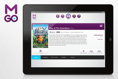 NOW STREAMING: M-GO's digital entertainment service now available on Safari browsers for Apple iPad and iPad Mini without requiring the download of an app. Now fully optimized for the iPad, consumers can instantly browse and select what movies or TV shows they want to buy or rent before streaming and enjoying the freshest movies and TV shows much earlier than Netflix.  (PRNewsFoto/M-GO)