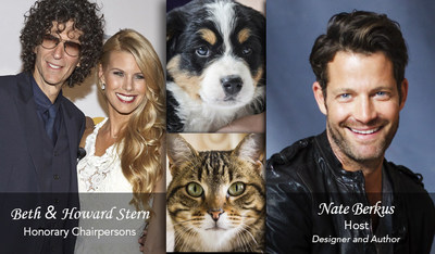 NORTH SHORE ANIMAL LEAGUE AMERICA CELEBRATES 70 YEARS OF SAVING ANIMAL LIVES - HONORARY GALA CHAIRS, BETH & HOWARD STERN - HOSTED BY DESIGNER AND AUTHOR, NATE BERKUS AT THE PLAZA HOTEL IN NYC ON FRIDAY, NOVEMBER 14TH AT 6:30PM!