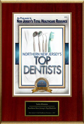 "Yatin Khanna DDS PA Selected For ""Northern New Jersey's Top Dentists"".  (PRNewsFoto/American Registry)"