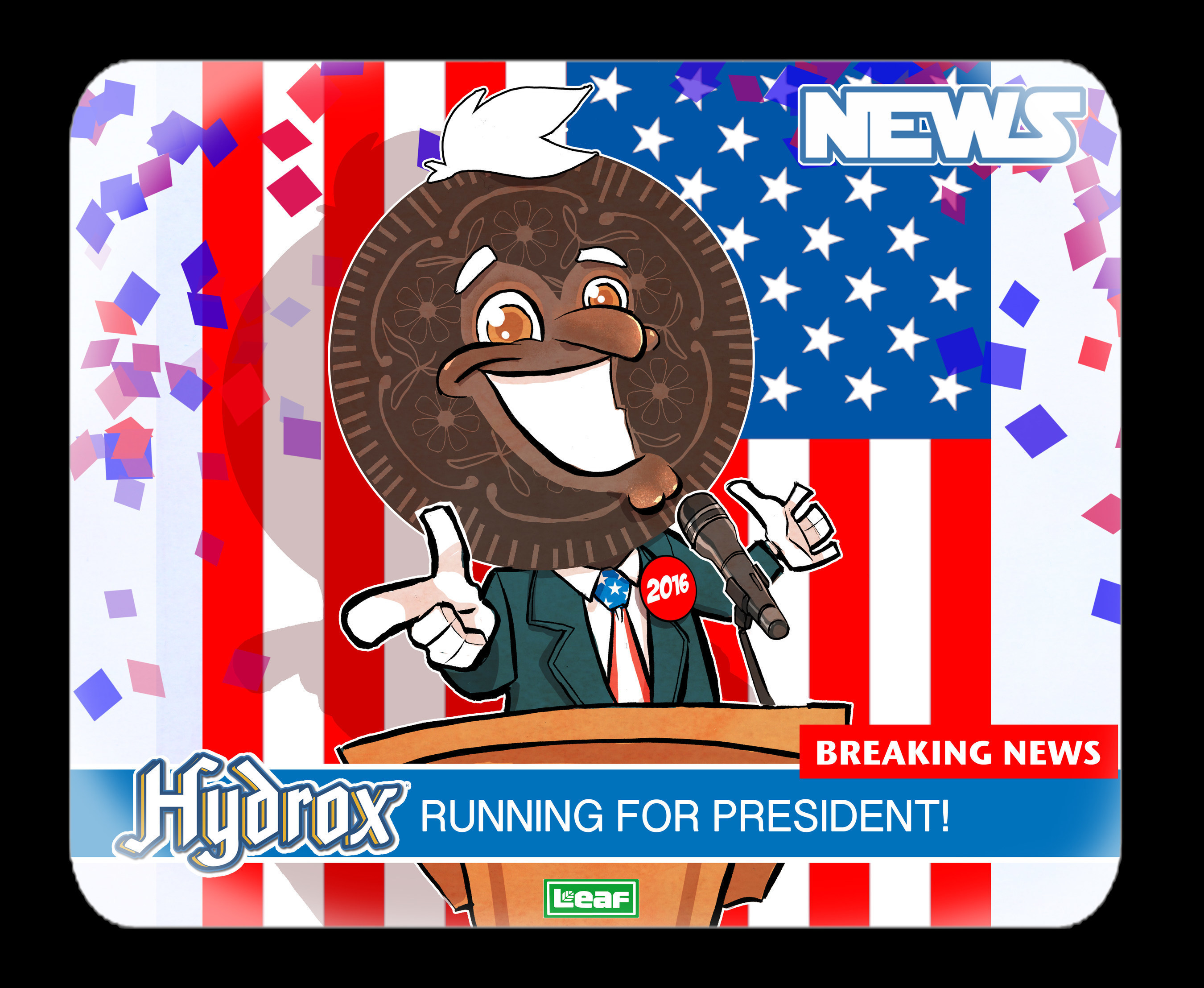 Hydrox®, America's First Sandwich Cookie, Announces His Run For The Presidency