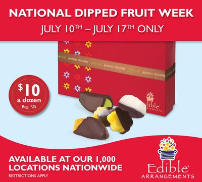 Edible Arrangements® Celebrates National Dipped Fruit Week - July 10th - 17th, 2011