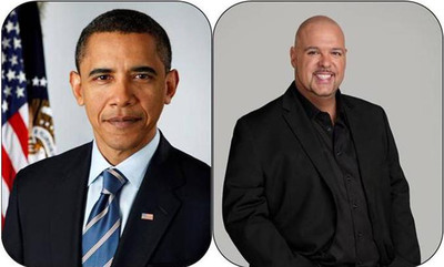 "DJ Laz exclusive interview with President Barack Obama was transmitted from ""DJ Laz Morning Show"".  (PRNewsFoto/Spanish Broadcasting System, Inc.)"