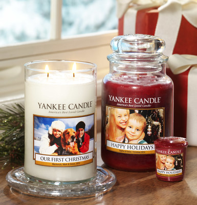 Fans can now easily create the perfect holiday gift with Yankee Candle's personalized candles.