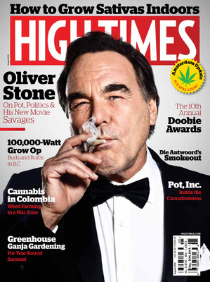 Oliver Stone Smokes A Joint On The Cover Of HIGH TIMES