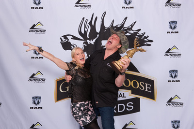 "Ted and Shemane Nugent, winners of the Golden Moose Award for Fan Favorite Host for ""Ted Nugent Spirit of the Wild"" on Outdoor Channel. (PRNewsFoto/Outdoor Channel)"
