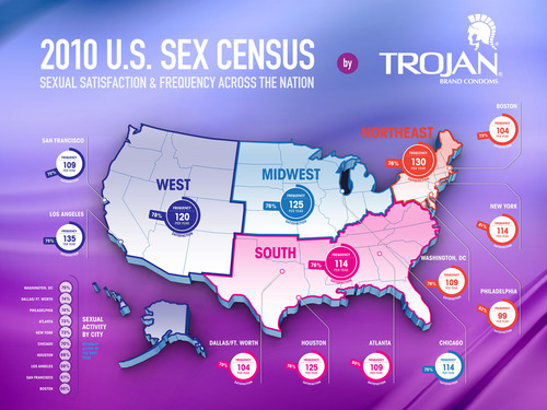 Trojan U.S. SEX CENSUS Finds Sexual Diversity and Satisfaction on Rise