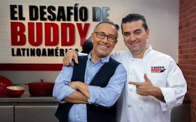 Fernando Arau and Buddy Valastro co-hosts of the Discovery Familia's series EL DESAFIO DE BUDDY LATINOAMERICA. Premieres Monday, April 18 at 9PM E/P.