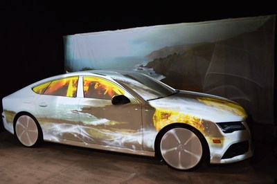 Projection Mapping on Audi RS7