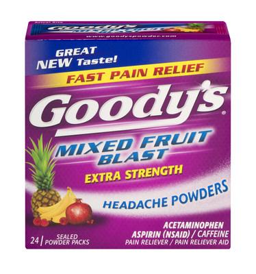 NEW Goody's Mixed Fruit Blast Headache Powder