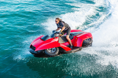 The Gibbs Quadski, the world's first personal sports amphibian.  (PRNewsFoto/Gibbs Sports Amphibians Inc.)
