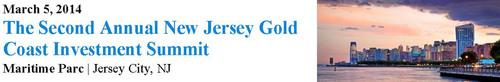 New Investors, New Developers, New Strategies: The NJ Gold Coast Investment Summit will bring together 400+ attendees and 40 Speakers in 10 panel discussions. With an influx of new multifamily and office tenants, and World Trade Center occupancy in ...