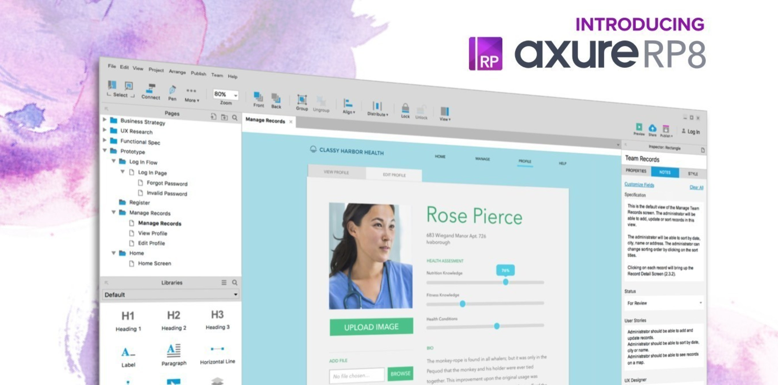 Axure Software Solutions Inc., whose industry leading software design tool is used by 86% of Fortune 100 companies, today released its much anticipated Axure RP 8, created to help teams design solutions to complex business challenges.