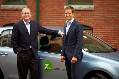 Zipcar Chairman and CEO Scott Griffith (left) welcomes Frerk-Malte Feller as the newly appointed president of Zipcar Europe.  (PRNewsFoto/Zipcar, Inc.)